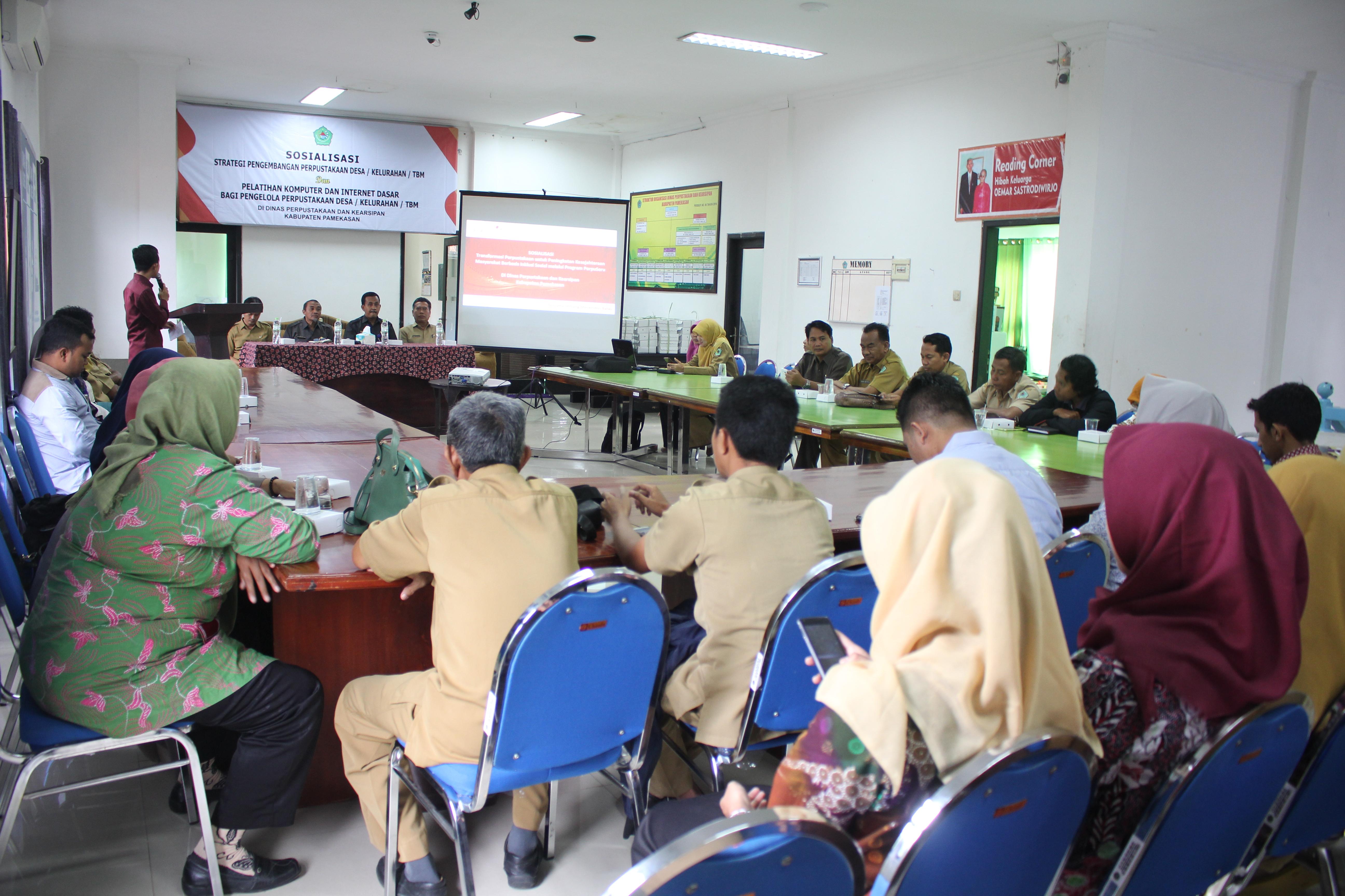 Pelatihan Strategi Pengembangan Perpustakaan berbasis IT bagi Perpustakaan Kelurahan/Desa dan TBM tahun 2018