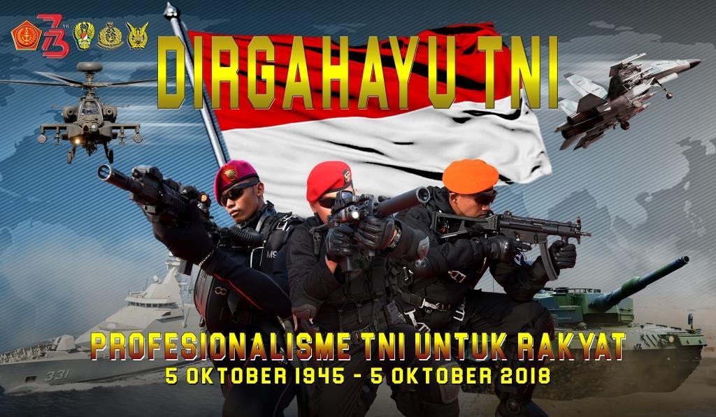 HUT ke-73 TNI Tahun 2018